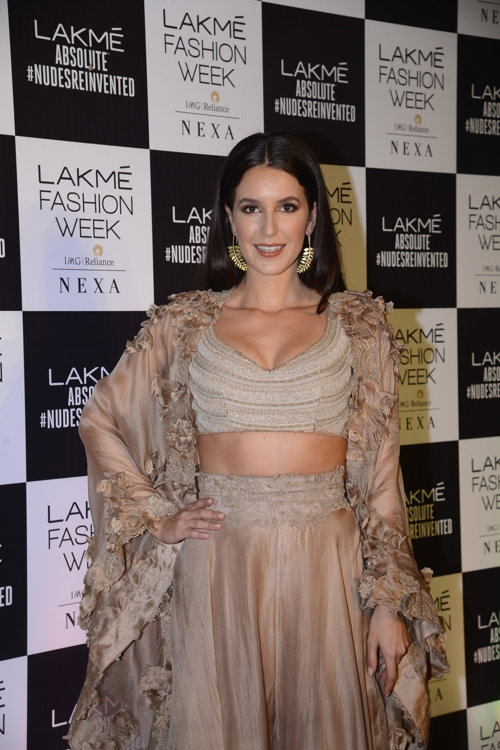 Mumbai: Actress Isabelle Kaif during the Lakme Fashion Week Summer/Resort 2018 in Mumbai on Feb 4, 2018. (Photo: IANS)