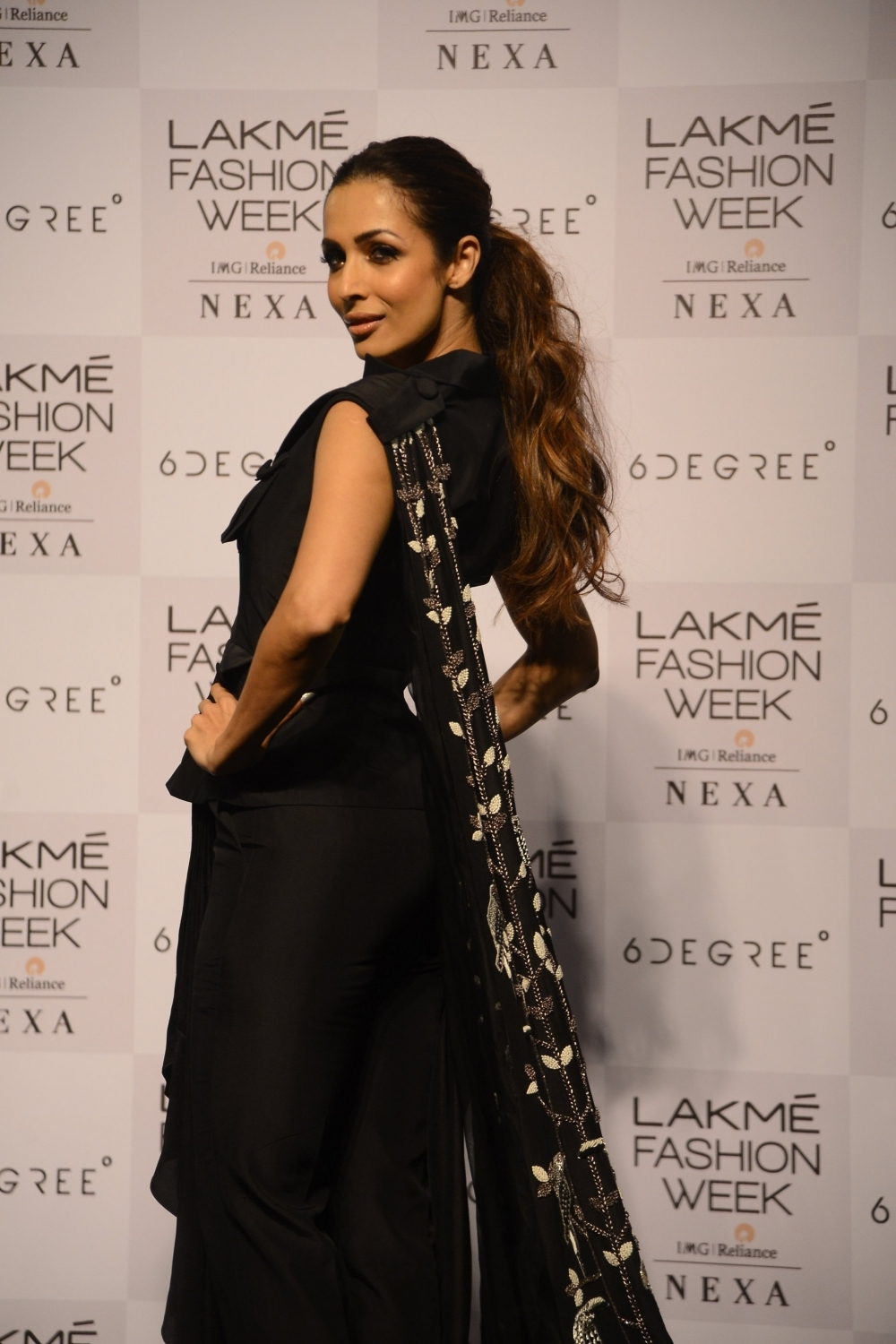 Mumbai: Actress Malaika Arora during the Lakme Fashion Week Summer/Resort 2018 in Mumbai on Feb 4, 2018. (Photo: IANS)