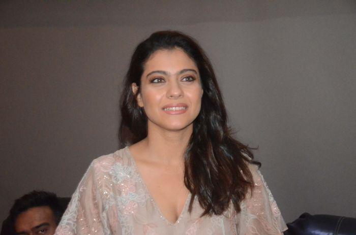 "Kajol during a programme oraganised as a part of ""Plastic Ban Campaign"" in Mumbai, on June 22, 2018"