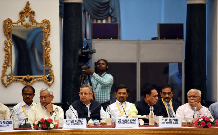 Prime Minister Narendra Modi chairs the fourth meeting of the Governing Council of NITI Aayog, in New Delhi on June 17, 2018.
